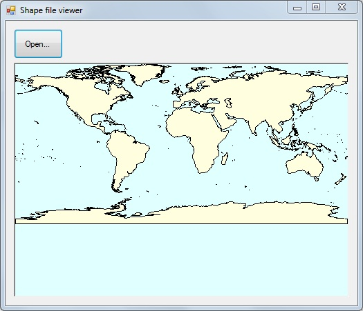 Shapefile viewer screenshot